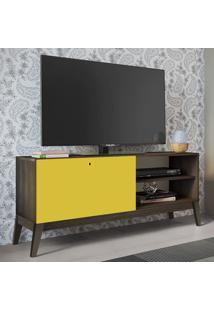 Rack Para Tv Até 52'' 1 Porta De Correr 0806 Demolição/Amarelo - Genialflex