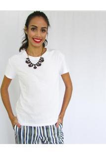 Camiseta Fernanda Almeida Pat Feminino - Feminino-Branco