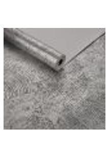 Papel De Parede Importado Ondas Geometrico Preto Com Prata