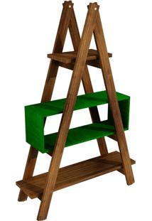 Estante Escada Decor De Madeira Verde