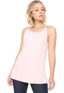 Blusa Finery London Chester Slash Neck Cami Rosa