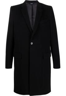 Dolce & Gabbana Sobretudo De Alfaiataria Com Abotoamento Simples - Preto