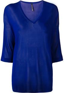 Pierantoniogaspari Blusa De Tricô Translúcida - Azul