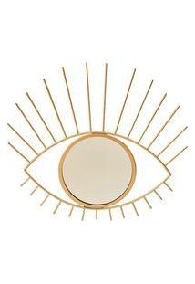 Espelho Moldura Olho Dourado