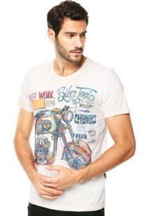Camiseta Forum Muscle Biker Off-White
