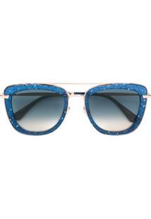 Jimmy Choo Eyewear Óculos De Sol 'Glossy' - Azul