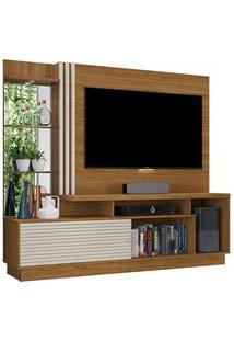 Estante Home Theater Para Tv Até 60 Pol. Frizz Plus Naturale/Off White