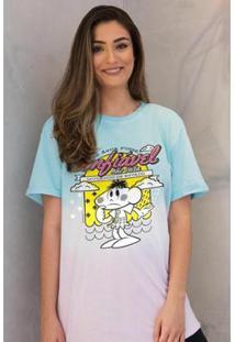 Camiseta Bandup! Turma Da Mônica Cascão Feminina - Feminino-Colorido