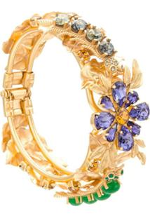 Dolce & Gabbana Bracelete Com Aplicação De Pedras - Dourado
