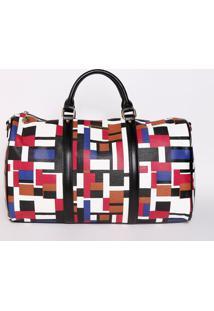 Bolsa Geométrica Texturizada - Branca & Preta - 24X4Chenson Bolsas