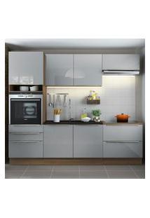 Cozinha Completa Madesa Lux Com Armário E Balcáo 6 Portas 5 Gavetas - Rustic/Cinza Cinza