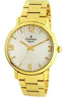 Relógio Champion Analógico Cn25636H Feminino - Feminino-Dourado