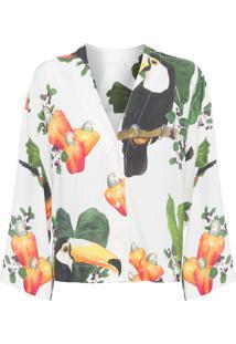 Camisa Feminina Kimono Caju - Off White