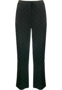 Karl Lagerfeld Calça De Alfaiataria Com Poás - Preto