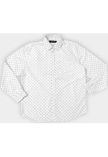 Camisa Social Delkor Plus Size Masculina - Masculino-Branco