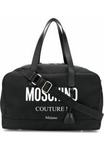 Moschino Mala Com Logo - Preto