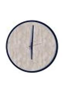 Relógio Decorativo Round Preto Mostrador Metropolitan Ponteiro Preto 40 Cm Diâmetro