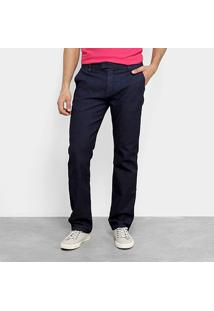 Calça Jeans Calvin Klein Straight Masculina - Masculino-Marinho