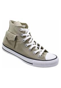 Tênis Converse All Star Chuck Taylor Pocket Hi Caqui Branco Ct13120003