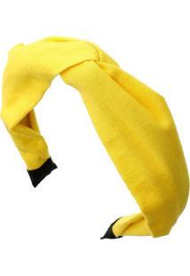 Tiara Piuka Lenço Bia Linho Amarelo