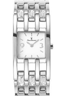 Relógio Analógico Jv75348- Prateado & Branco- Jean Vjean Vernier
