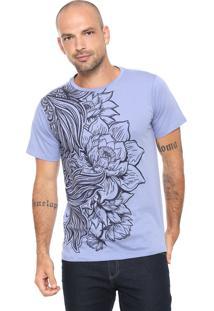 Camiseta Fiveblu Estampada Azul