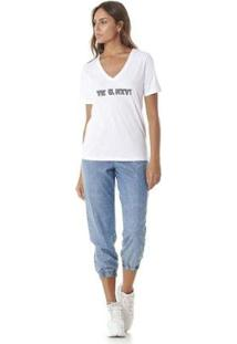Camiseta Serinah Bordado Lolizado Tk U Nxt Feminina - Feminino-Branco