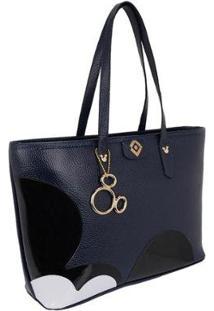 Bolsa Sacola De Ombro Selten Feminina - Feminino-Azul Escuro