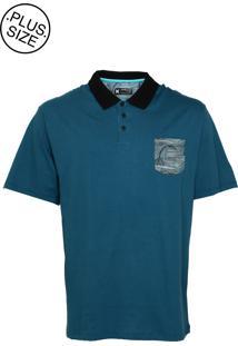 Camisa Polo Hurley Oversize Brooks Azul