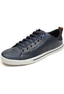 Tênis Couro Calvin Klein Cadarço Azul-Marinho