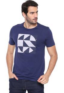 Camiseta Aramis Texturizada Azul-Marinho