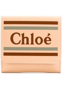 Chloé Carteira Com Logo - Neutro