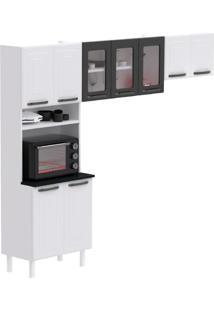 Cozinha Compacta Titanium 9 Pt Branca E Preta
