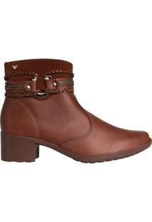 Bota Feminina Ankle Boot Mississipi Murgon Marrom Claro - 34