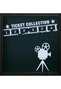 Quadro Porta Ticket Cinema 27X27X4-Kapos - Preto