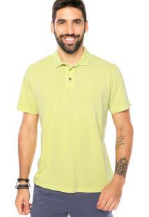 Camiseta Polo Reserva Botão Verde