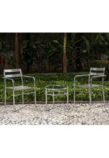 Conjunto Mesa Com 2 Cadeiras Marcia - Alegro - Alumínio