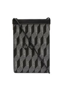 Au Départ Chevron Geometric Pattern Shoulder Bag - Preto