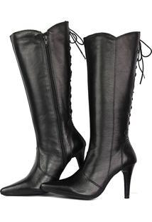 e5fdcbf8a Sapato Cano Longo Preto feminino