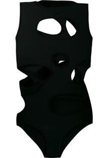 Rick Owens Blusa Com Recortes Vazados - Preto