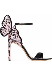 Sophia Webster Sandália Butterfly 100 - Preto
