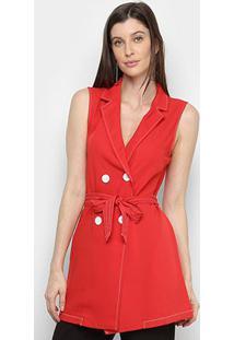 Vestido Curto Eagle Rock Amarração Feminina - Feminino-Vermelho