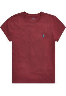 Camiseta Polo Ralph Lauren Logo Vinho