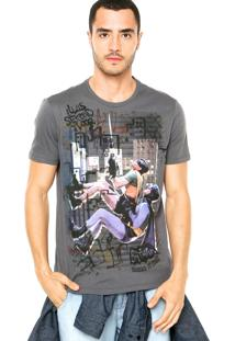 Camiseta Ellus 2Nd Floor Batman And Robin Cinza