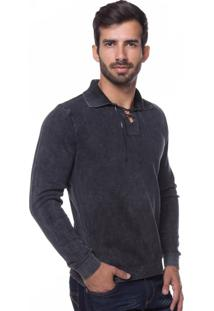 Camisa Polo Retrô Le Tisserand Black Stone