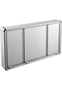 Espelheira Para Banheiro Astra Lbp14/S 3 Portas 73X45Cm Alumínio