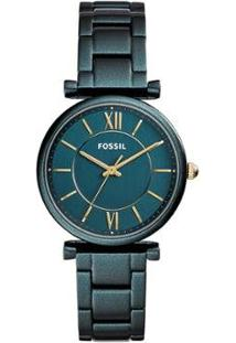 Relógio Fossil Carlie Feminino - Feminino-Verde