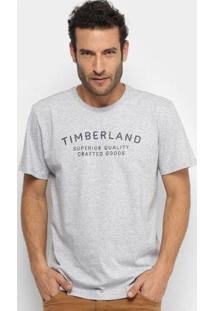 Camiseta Timberland Kennebec Elevated Brand Carri Masculina - Masculino-Cinza