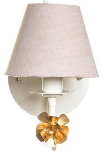 Arandela 1 Lâmpada Flor Dourada Quarto Bebê Infantil Menina Menino Potinho De Mel Dourado - Kanui