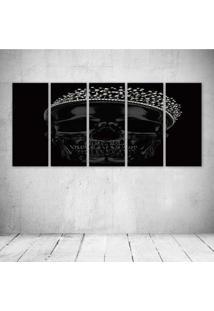 Quadro Decorativo - King Skull - Composto De 5 Quadros